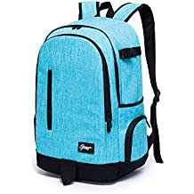 College School Backpack, Ricky-H Stylish Travel Bag for Men & Women, Lightweight Laptop Back Pack Fits up to 15.6 inch Laptop