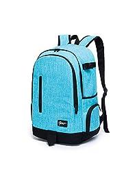 Ricky-H Lifestyle - Mochila Escolar para Mujer, Color Azul