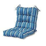 Greendale Home Fashions Outdoor Seat/Back Chair Cushion in Coastal Stripe, Sapphire