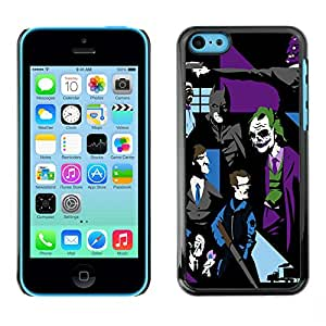MOBMART Slim Sleek Hard Back Case Cover Armor Shell FOR Apple iPhone 5C - Joker Bat Pop Art G0Tham