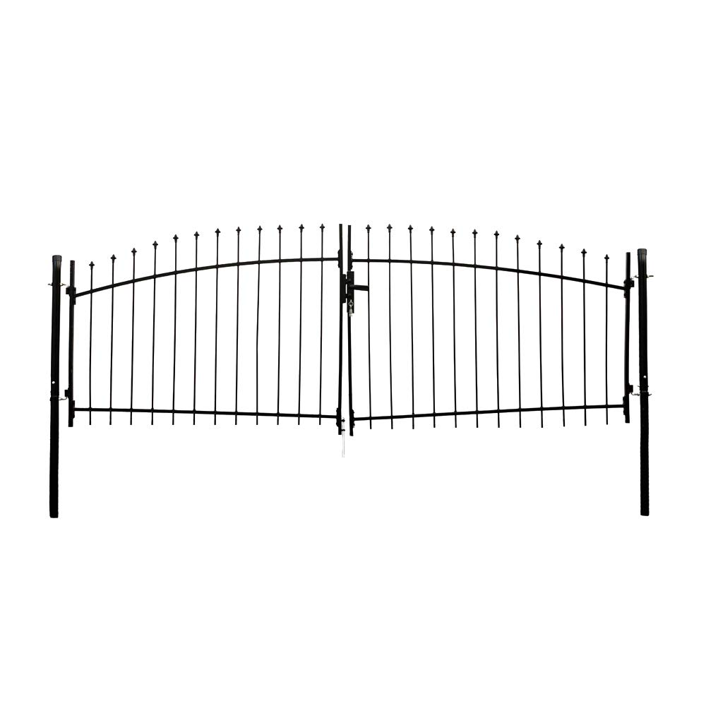 ALEKO DWGD11X5 DIY Arched Steel Dual Swing Driveway Gate Kit with Lock Athens Style 11 x 5 Feet by ALEKO (Image #5)