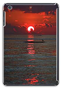 3D PC Case Cover for ipad mini retina Custom Hard Shell Skin for ipad mini retina With Nature Image- Red Sunset