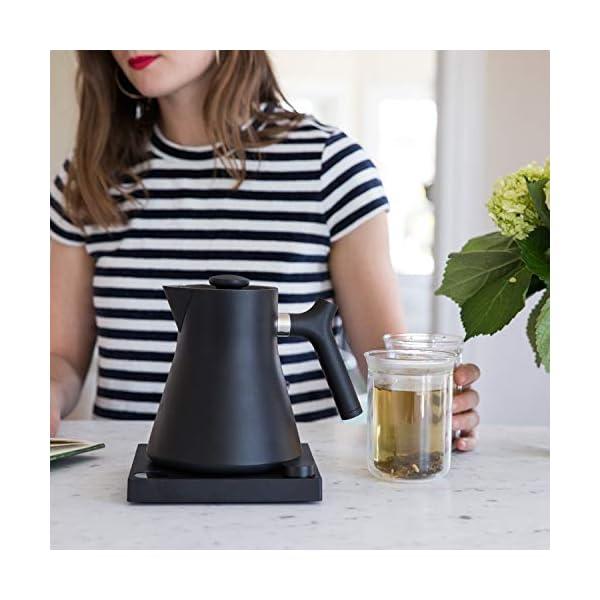 Fellow Corvo EKG Electric Kettle For Tea And Coffee, Matte Black, Variable Temperature Control, 1200 Watt Quick Heating… 5