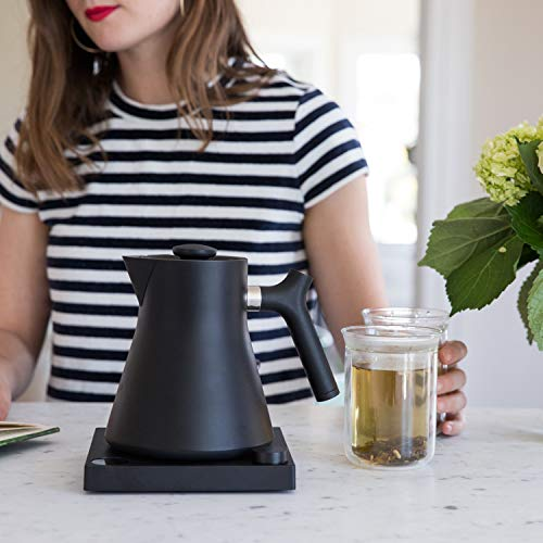 Fellow Corvo EKG Electric Kettle For Tea And Coffee, Matte Black, Variable Temperature Control, 1200 Watt Quick Heating, Built-In Brew Stopwatch by Fellow (Image #4)
