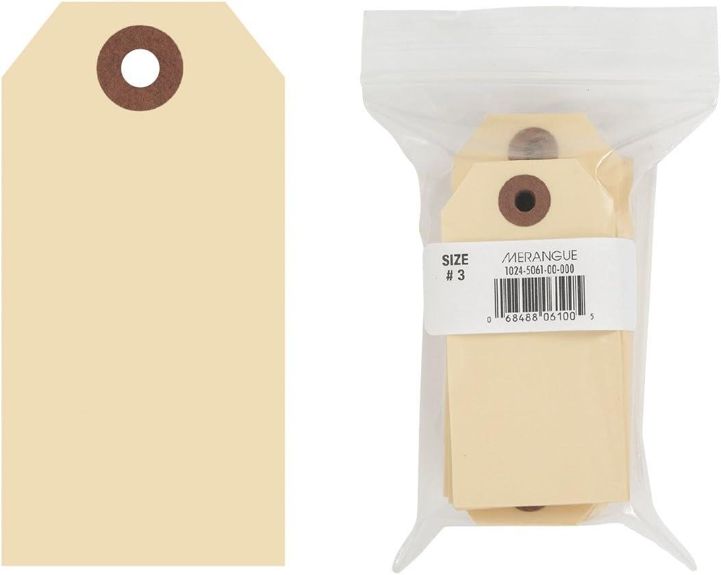 "Merangue 100 Pack Shipping Tags, Sz3, 3-3/4"" x 1-7/8"" (1024-5061-00-000)"