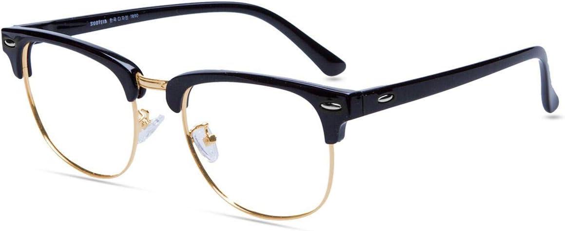 Amazon Com Firmoo Blue Light Blocking Glasses Women Men Anti Eye Strain Headaches Black Gold Square Glasses For Computer Screen Use Computers Accessories