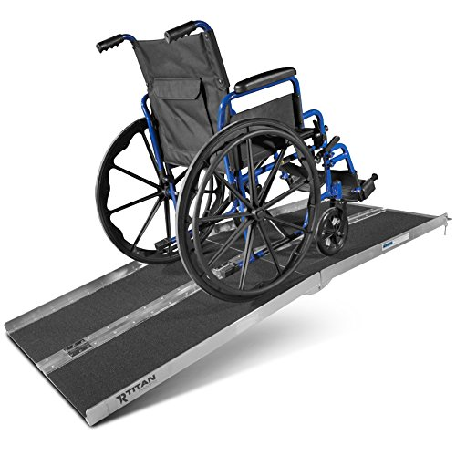 6' ft Aluminum Multifold Wheelchair Scooter Mobility Ramp portable 72'' (MF6) by Titan Ramps (Image #2)