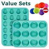 #6: Silicone Muffin Cupcake Pan Set Kitchen Bakeware