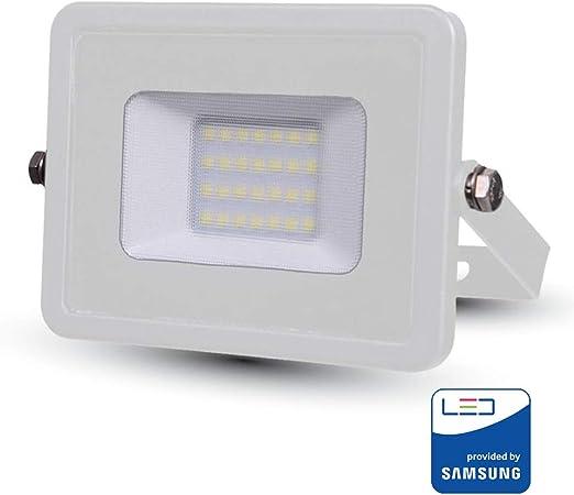 V-TAC VT-20 20W LED A++ Blanco Proyector - Proyectores (20 W, LED ...