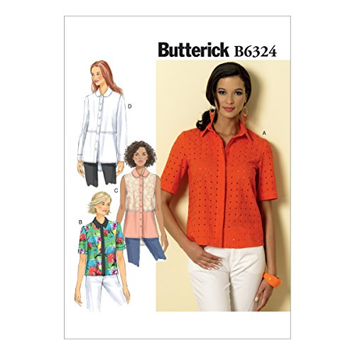 Butterick Patterns B6324 Misses' Button-Down Collared Shi...