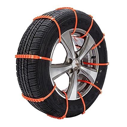 10 pcs Cadenas antideslizantes para llantas Barro Cadenas para llantas para nieve Neumáticos de emergencia Cadenas para ruedas de seguridad Cable ...
