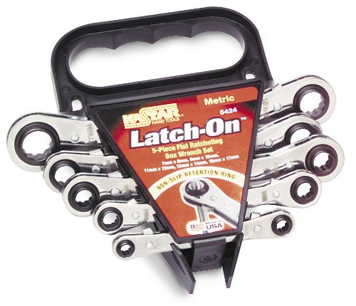Kastar Latch-On 5-Piece 12-Point Ratcheting Box Wrench Set - Metric 5424