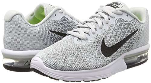 NIKE Womens Air Max Sequent 2 Running Shoe Pure Platinum/Black/Cool Grey sqizXePI