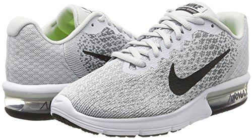 Nike Dames Air Max Sequent 2 Loopschoen Puur Platina / Zwart / Koel Grijs