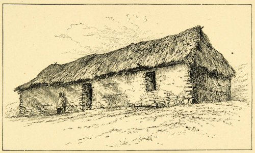 1896 Wood Engraving Malagasy Church Madagascar Thatched Grass Roof Architecture - Original Engraving - Thatched Grass