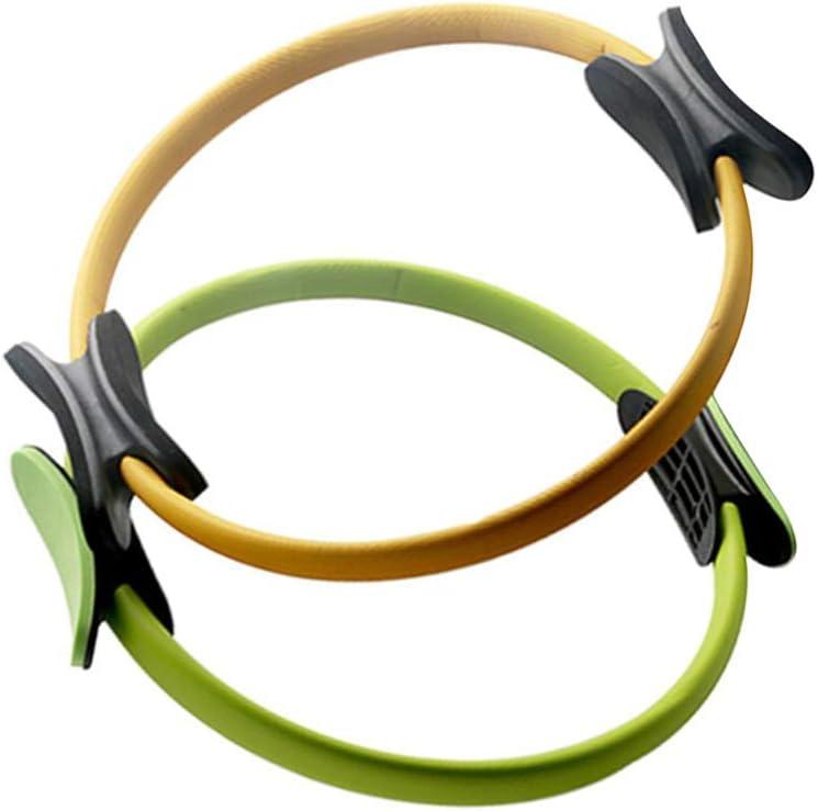Garneck 1 anillo de yoga para pilates, círculo de resistencia, círculo mágico de ejercicio, antideslizante, doble agarre para entrenamiento de mujeres, señora y niña
