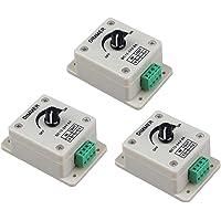 LED Dimmer Switch Controller PWM Strip Ljus Ljusstyrka Steglös Knob Justera Single Channel DC 12-24V 3st, knappar och…