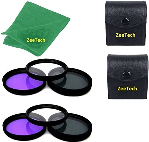 ZeeTech Microfiber Cleaning Cloth for Nikon Digital SLR Camera Lenses That Have 52mm Thread UV + CPL + FLD 2pcs 52mm Multi-Coated 3 Piece Filter Kit