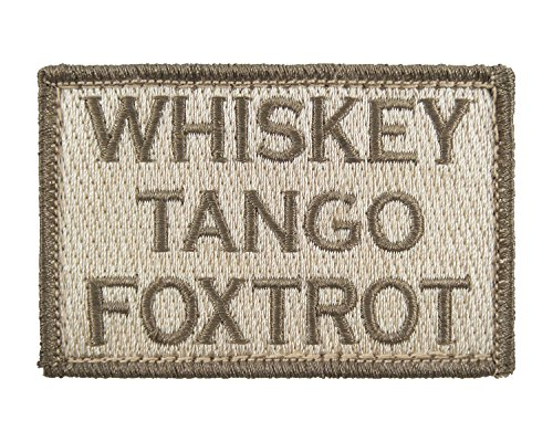 Whiskey Tactical Embroidered Morale Tags
