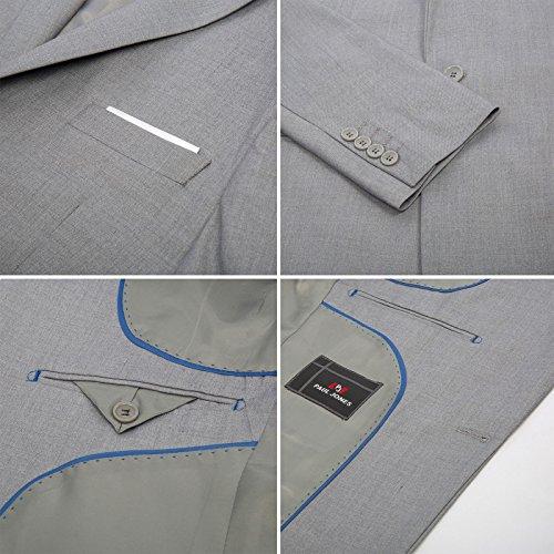 a93efa13b65 high-quality PAUL JONES Men s Slim Fit One Button 3-Piece Dress Suit Blazer