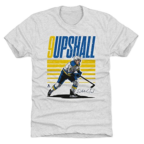 500 LEVEL Scottie Upshall Premium Shirt XXX-Large Tri Ash - St. Louis Blues Fan Apparel - Scottie Upshall Starter Y (Blues Louis Starter)