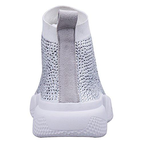 ZAPROMA Lona Blanco Color 5 para 36 01 Mujer Talla Zapatillas RUN de ap1afq
