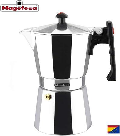 MAGEFESA Colombia – La cafetera MAGEFESA Colombia está Fabricada en Aluminio Extra Grueso. Pomo y Mangos ergonómicos de bakelita Toque Frio. (Aluminio, 9 Tazas): Amazon.es: Hogar