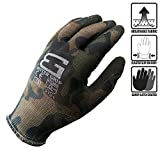 Better Grip Ultra-Thin BGSMT1 Nylon Sandy Latex Coated Work Gloves, 4 Pairs/Pack (Small, Military Brown)