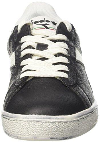 Bianco Uomo Nero Nero Diadora Game Low Sneaker Waxed L x8qA1v
