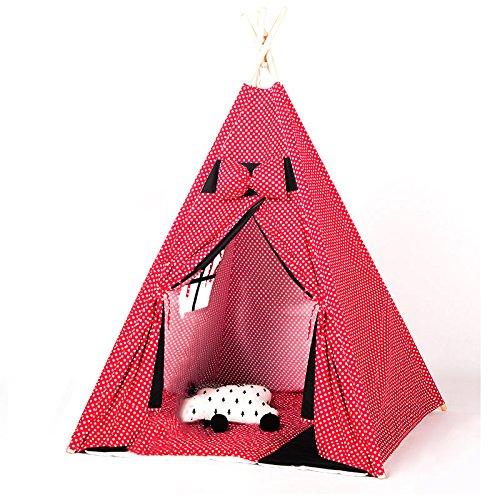 Zhao Schloss-Zelt, Kind-Innenzelt-Spiel-Haus-Spielzeug-Speicher Reizende Jungen und Mädchen-Haushalts-Zelt-Spielzeug-Raum im Freien 110  110  160CM