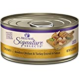 Wellness Core Signature Selects Grain Free Wet Canned Cat Food, Chunky Chicken & Turkey, 5.3-Ounce (Pack Of 12)