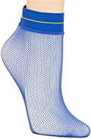 HUE Women's Fishnet Anklet One Size Blue