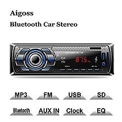 Aigoss Bluetooth Car Stereo, 4x60W Digit...