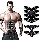 Cheap Aukepate Abs Muscle Trainer Abdominal Toning Belt Abs Toner of Abdominal Body Muscle Trainer with 8 Pieces of Pad for Abdomen/Arm/Thigh/Waist Support for Men and Women