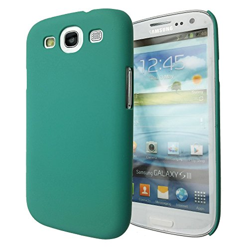 Wydan Case for Samsung Galaxy S3 SIII i9300 - Rubberized 1-Piece Snap On Hard Case Cover- Teal
