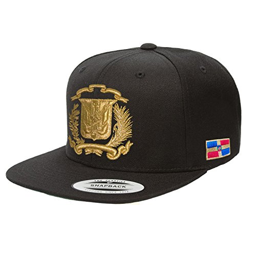 Peligro Sports Dominican Republic Hat Snapback (Black/M.Gold)
