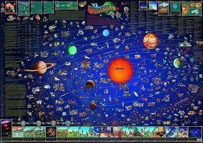 Unser Sonnensystem: Dino's illustrierte Karten