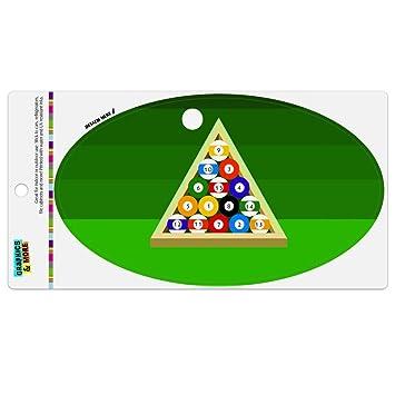 Amazon.com: Imán ovalado de vinilo con diseño de bolas de ...