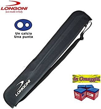 Longoni G - Funda estuche para palos de billar con un tiza y un taco de regalo: Amazon.es: Deportes y aire libre