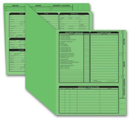 EGP Real Estate Folder, Right Panel List, Letter Size, Green