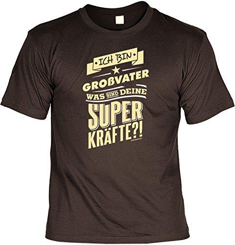 T-Shirt - Ich bin Großvater - Was sind deine Superkräfte - lustiges Sprüche Shirt als Geschenk für Opas mit Humor
