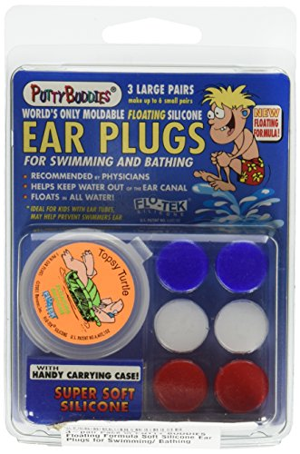 [PUTTY BUDDIES Floating Earplugs 3-Pair Pack – Soft Silicone Ear Plugs for Swimming & Bathing – Invented by Physician – Block Water– Premium Swim Earplugs – Doctor Recommended – Easy to] (Nose Putty)