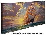 Courageous Voyage - Thomas Kinkade Seascapes 16'' x 31'' Gallery Wrapped Canvas