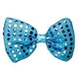 LED Light Up Flashing Sequin Bow Ties Tie - Various Colors by Mammoth Sales (Blue)