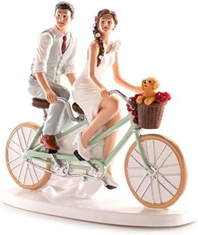 Figuras GRABADAS de boda novios bicicleta para tarta pastel PERSONALIZADA bici: Amazon.es: Hogar