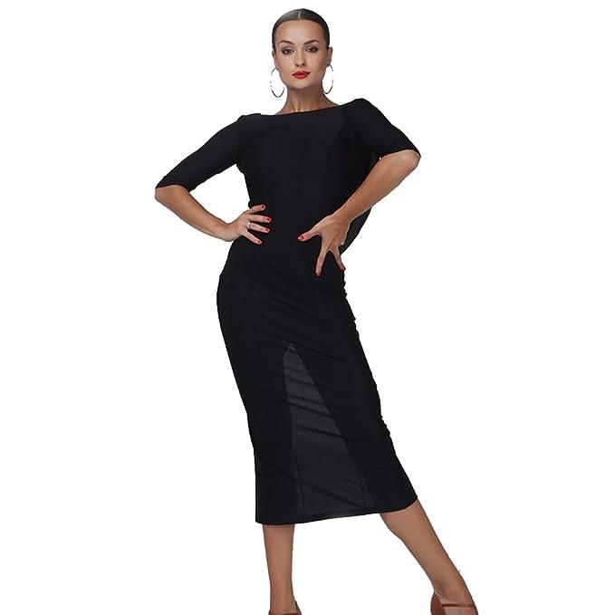 Amazon.com: yilinfeier Mujer Negro Backless short-sleeves ...