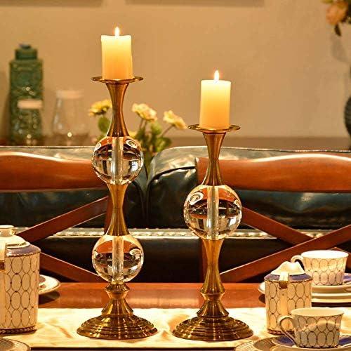 アート ヨーロッパの高いガラスクリスタルキャンドルホルダー飾りロマンチックなキャンドルライトディナー創造レトロなテーブルデコレーションキャンドルカップウエスト:14 * 46センチメートル、小人W:14 * 38センチメートル 飾る