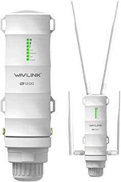 WAVLINK AC1200 Gigabit Outdoor WLAN Access Point Support 60 Meters Poe, resistente a la intemperie, Dual Band 5G + 2,4G Ideal para Outdoor WLAN ...