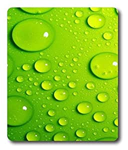 custom pad Green Drops Of Water PC Custom Mouse Pads / Mouse Mats Case Cover