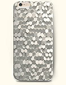 Grey Hexagon Pattern - Honeycomb Pattern - Phone Cover for Apple iPhone 6 Plus ( 5.5 inches ) - SevenArc Authentic...